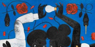 One of the paintings by Abe Odedina that will be on display in the Department Store