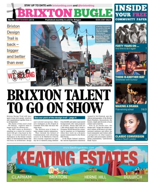 Brixton Bugle front page September 2018