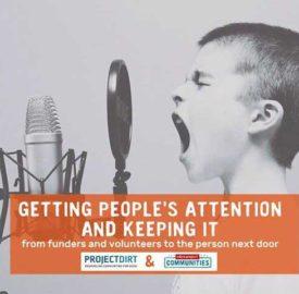 Poster for workshop on 15 September Getting Attention