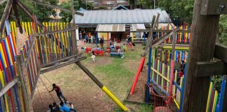 Photo of re-opened adventure playground at Loughborough Junction