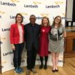 Celebrating: (l-r) Helen Hayes, MP for Dulwich & West Norwood; Coldharbour ward councillor Donates Anyanwu; Scarlett O'Hara; and Coldharbour councillor Emma Nye