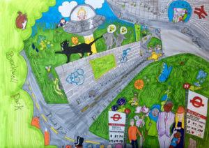Brockwell Passage mural