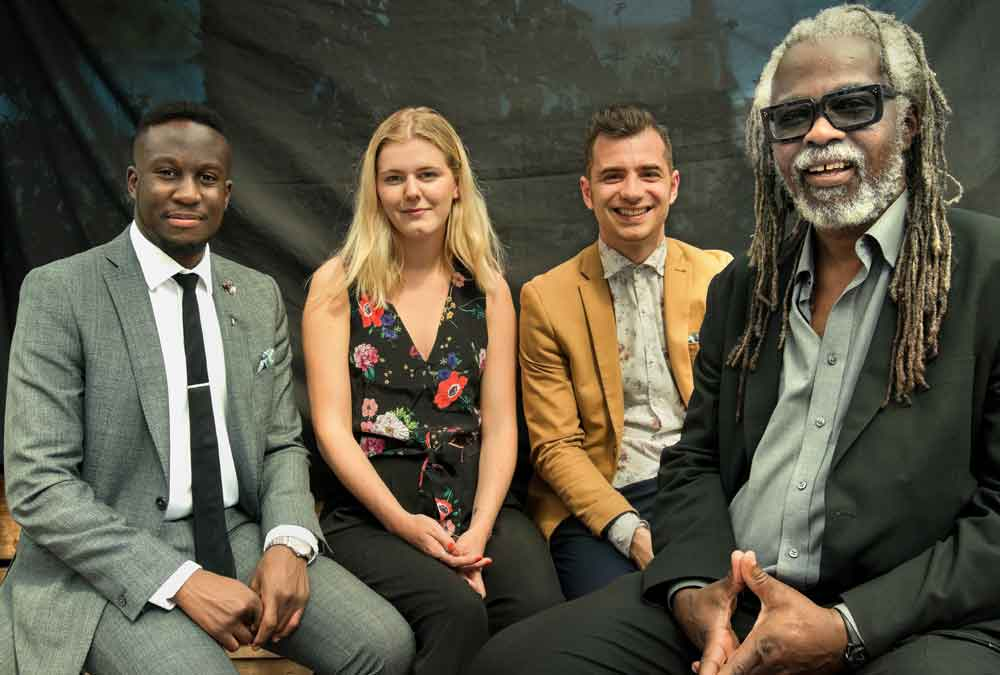 BID team (l-r) Reece Simwogerere, projects assistant; Ingrid Wright, marketing and communications lead; Gianluca Rizzo, operations manager; and director Michael Smith