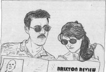 Illustration of two people reading the Brixon Review of Books