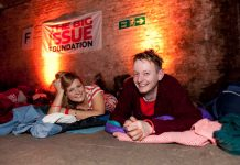Photo of Big Issue sleep out campaign