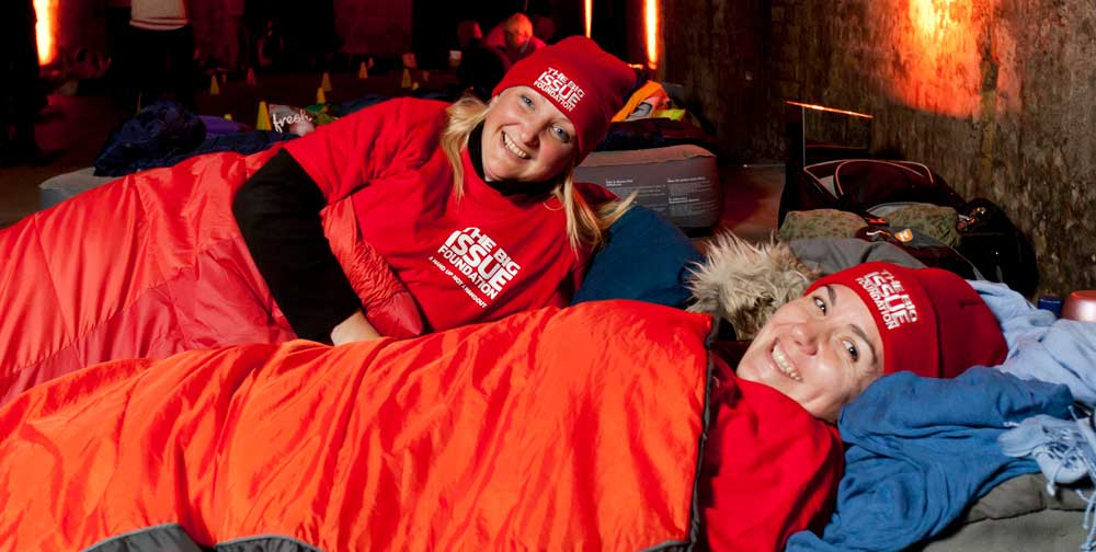 Photo of Big Sleep Out fundraise for Big Issue