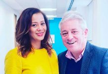 John Bercow with Miranda Brawn