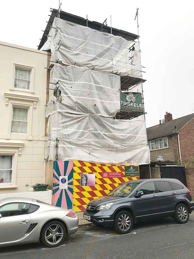 The house where van Gogh stayed in Hackford Road is undergoing major renovation work