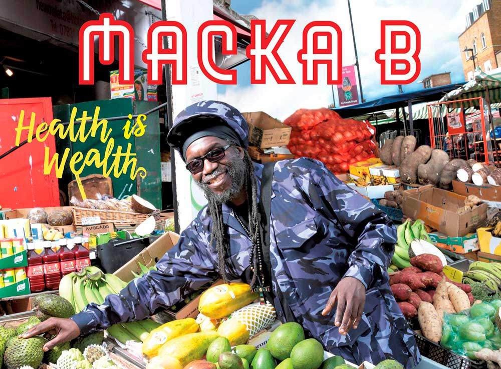 Album cover Health is wealth by reggae legend Macka B