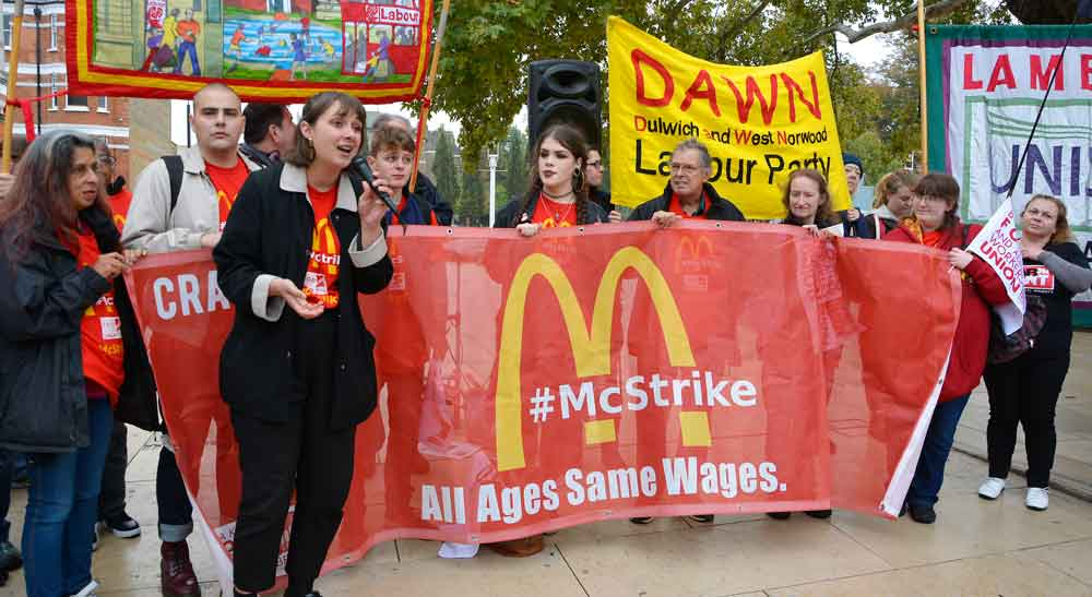 Brixton McDonald's worker Justine