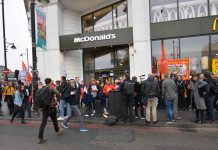 Picket outside McDonald's in Brixton