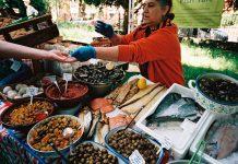 Myatt's Field Sunday Market. Picture of vegetable stall