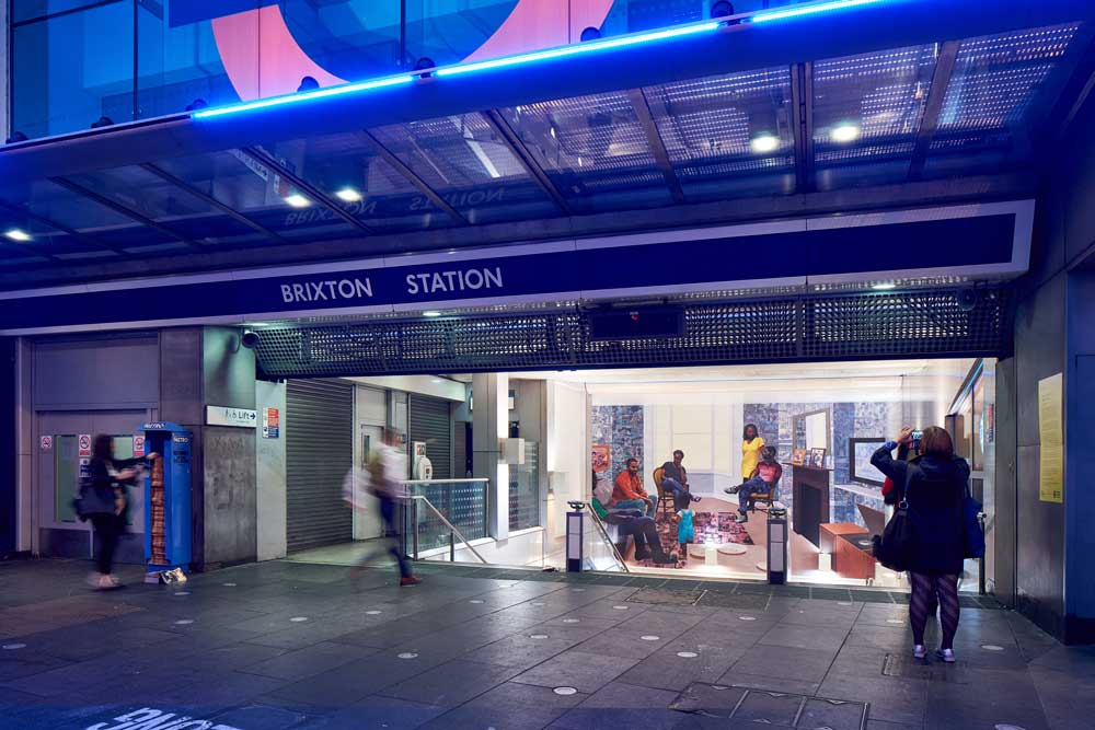 New mural at Brixton Tube - part of Art on the Underground