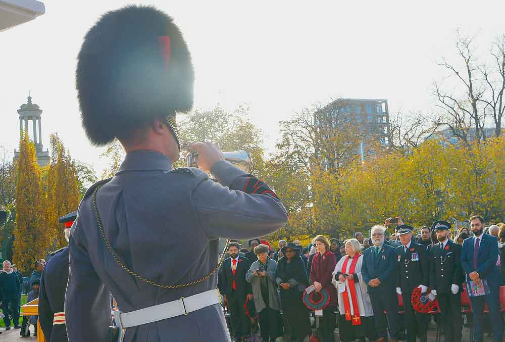 A bugler played The Last Post