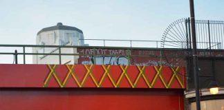 Work on new bridge across Brixton Road