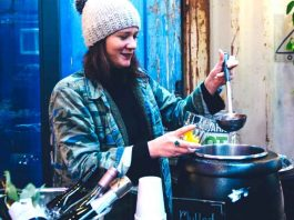 Mulled wine at the New Zealand Wine Cellar in Pop Brixton