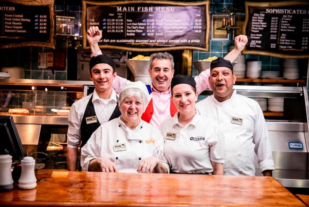 The team at Olley's Fish and Chips