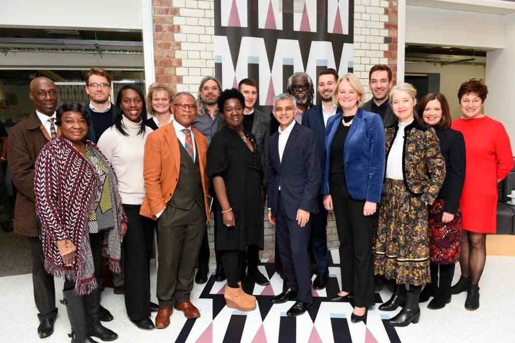 The mayor and councillors with members of Lambeth's creative enterprise team