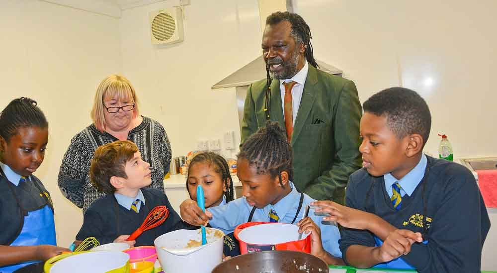 Levi Roots cookery class