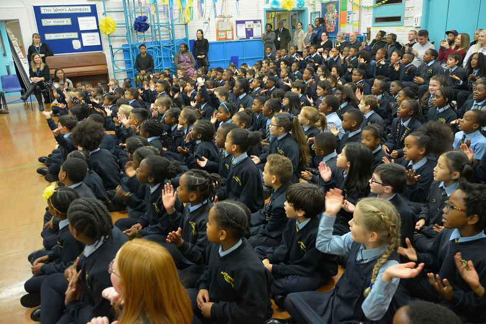 St Andrew's pupils perform their anniversary song