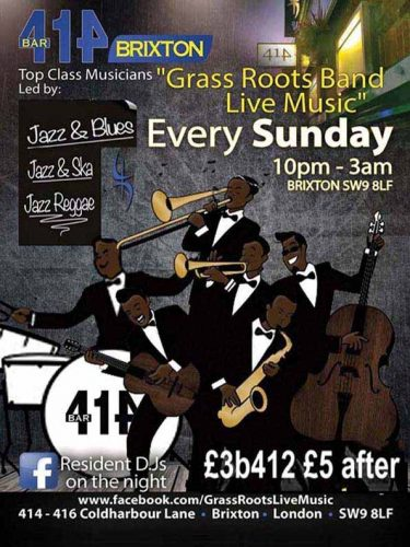 Grass Roots Live Music Sundays @ Club 414 | England | United Kingdom