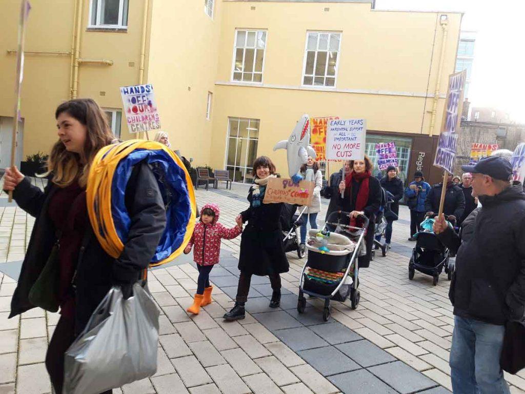 Marching to the town hall