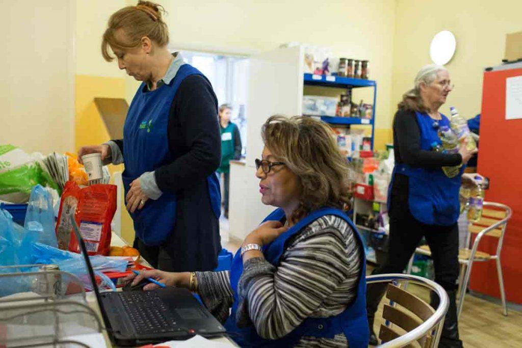 Foodbank volunteers in Brixton