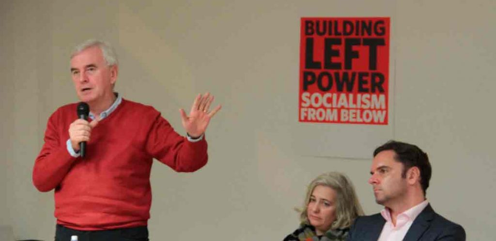 John McDonnell speaking at the conference.Picture: ©Samuel Francis