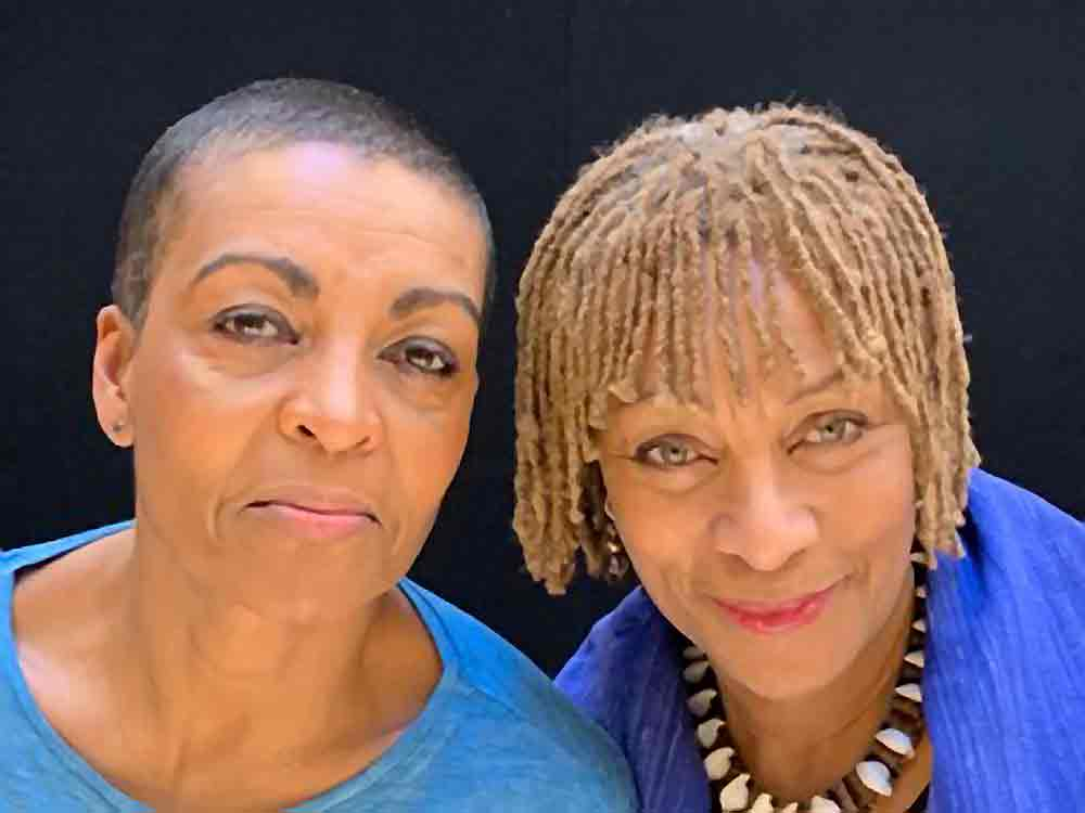 Adjoa Andoh (left) and Dona Croll. Picture: Sarah Lam