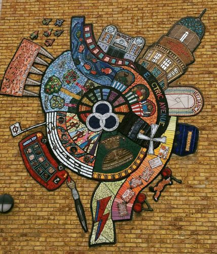 Landsdowne School mosaic made with Arts4Space