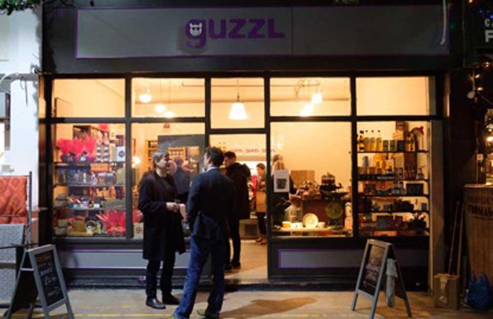 Guzzl shop front in Brixton village