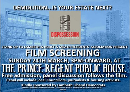 Campaign against estate demolitions @ Prince Regent Pub | England | United Kingdom