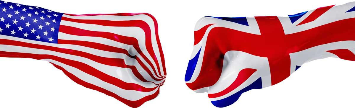 USA-UK fist bump