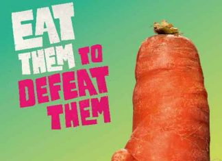 Poster for Veg Power campaign - Eat them to defeat them