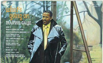 Art Work Martin Grover's acrylic on canvas representation of Marvyn Gay album sleeve