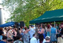Crowds enjoy themselves at Brixton Windmill