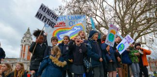 Kids climate rally in Windrush Square