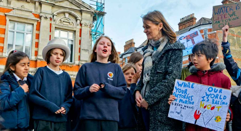 Bess Herbert of Lambeth for a Cool Planet invited young people to share their views