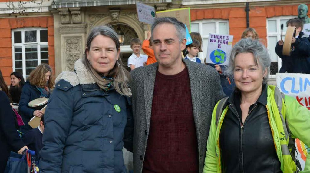 §Lambeth Green Party councillors (l-r) Nicole Griffiths, Jonathan Bartley and Becca Thackray