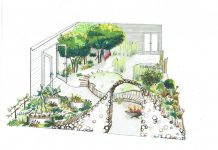 illustration of Believe in Tomorrow garden by brixton designer for RHS show