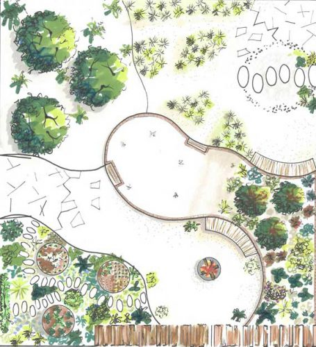 Design plan for garden for RHS by Brixton gardener