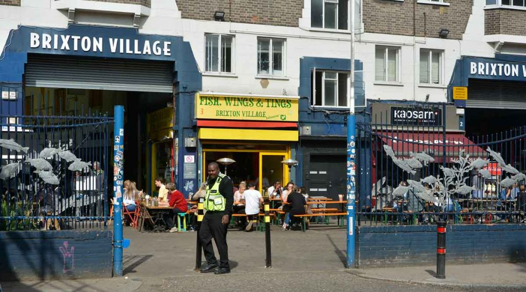 Entrance to Brixton Village on Coldharbour Lane
