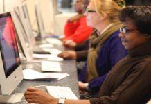 photo of people learning keyboard skills