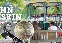 John Ruskin bicentenary event at at Ruskin Park