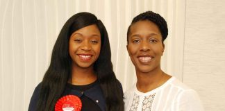 Nanda Manley-Browne (left) with Florence Eshalomi