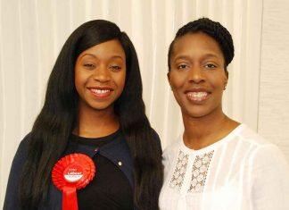 Nanda Manley-Browne (left) with Florence Eshalomi