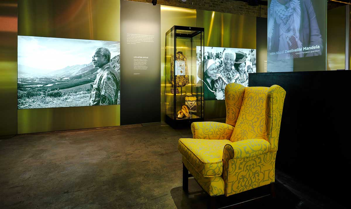 Room at the Nelson Mandela exhibition