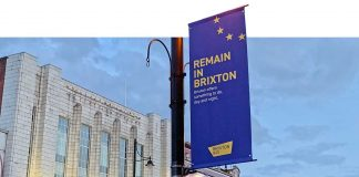 Remain in Brixton Banner by the Business Improvement District