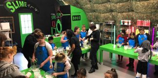 Slime Planet at Loughborough Junction children's workshop