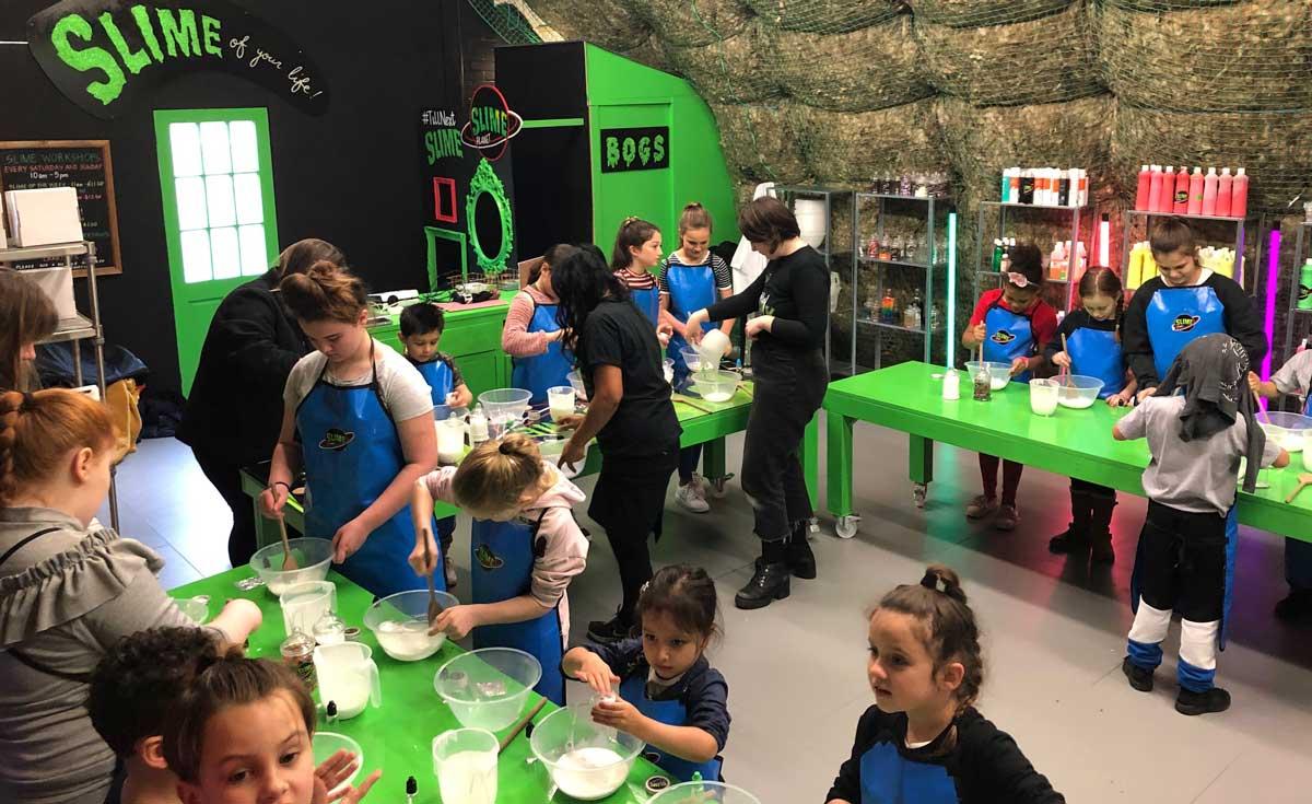 Slime Planet at Loughborough Junction children's workshop
